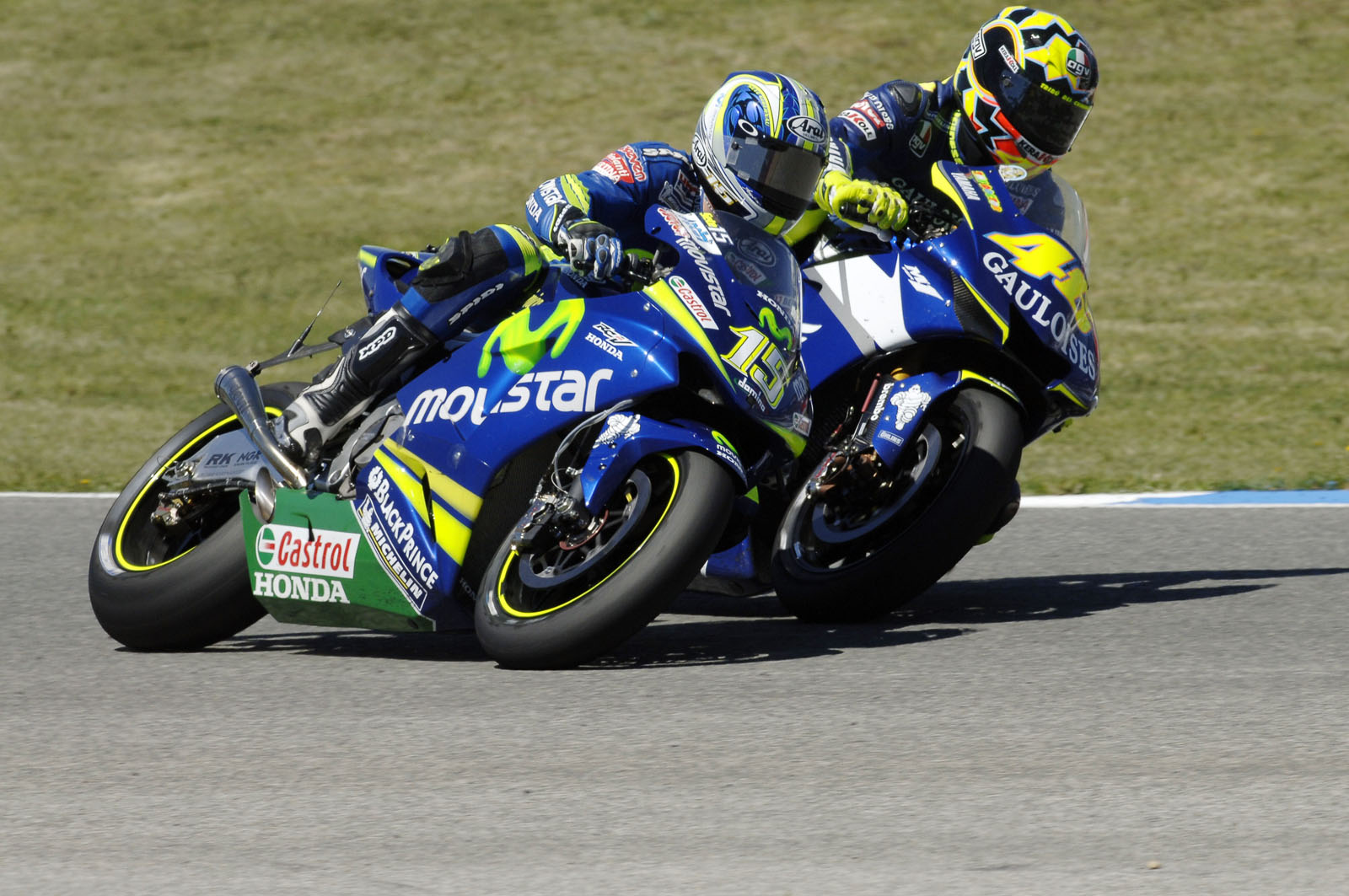 Valentino Rossi dan Sete Gibernau